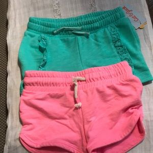 Girls cat and jack shorts pink and teal